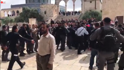 Fighting broke out on Jerusalem Day on the Temple Mount. Source: Screenshot