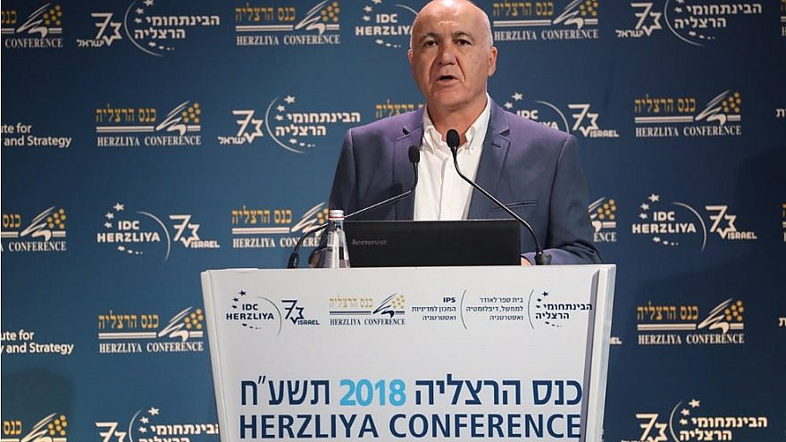 Former chief of the Israel Security Agency (Shin Bet) Yoram Cohen at the Annual Herzliya Conference. Credit: Herzliya Conference.