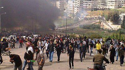 Protests in Daraa, 2013. Source: Ibrahim Moukdad.