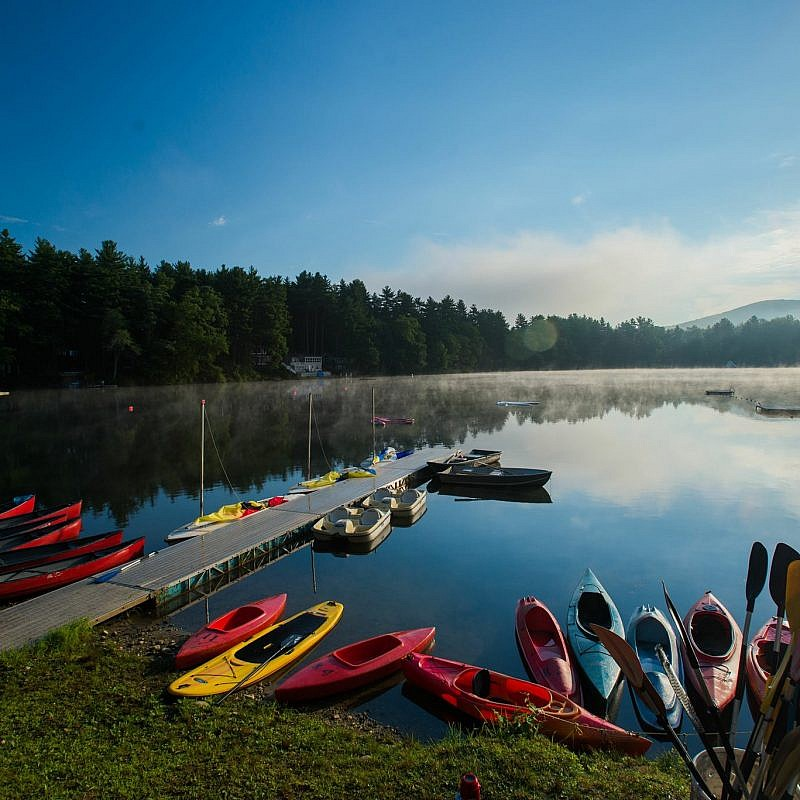 A lake in Camp Ramah in New England. Credit: Facebook.