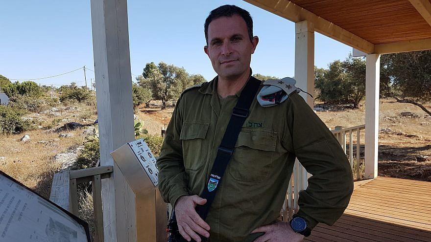 Lt.-Col. Idan Wernick, deputy commander of the Menashe territorial brigade. Credit: Yaakov Lappin.