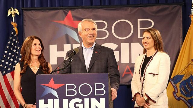 Republican candidate for the U.S. Senate from New Jersey Bob Hugin speaks alongside his wife and daughter. Credit: Bob Hugin for Senate Facebook page.