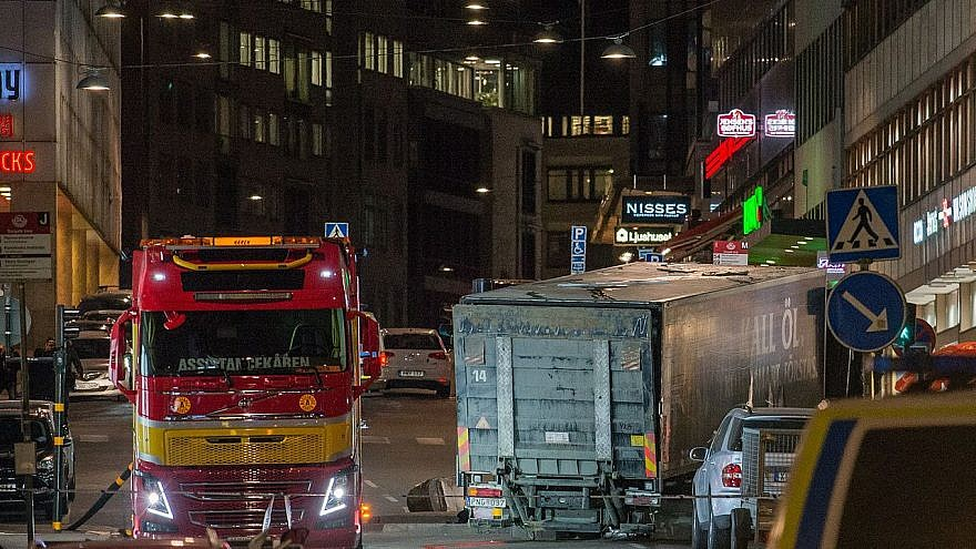 In central Stockholm, the capital of Sweden, a hijacked lorry was deliberately driven into crowds along Drottninggatan (Queen Street) before being crashed through a corner of an Åhléns department store on April 7, 2017. Five people were killed and 14 others seriously injured. (Wikipedia)