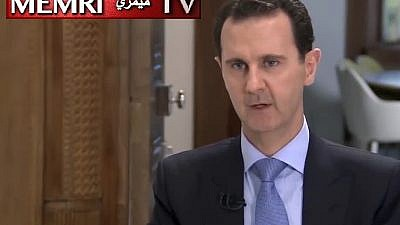 Syrian President Bashar Assad. His statements were made on the Iranian Al-Alam TV channel on June 13 and published online by the Syrian President office and various Syrian media outlets. (MEMRI)