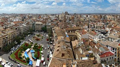 An aerial view of Valencia, Spain. Credit: Wikimedia Commons.