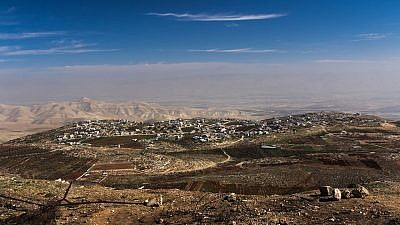 Village of Duma from the west with the Jordan Valley in the background. (Wikipedia)