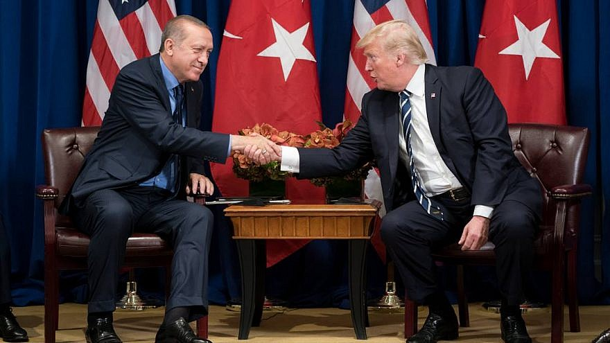 Turkish President Recep Tayyip Erdogan with U.S. President Donald Trump at the sidelines of the United Nations General Assembly in September 2017. Credit: Official White House Photo by Shealah Craighead.