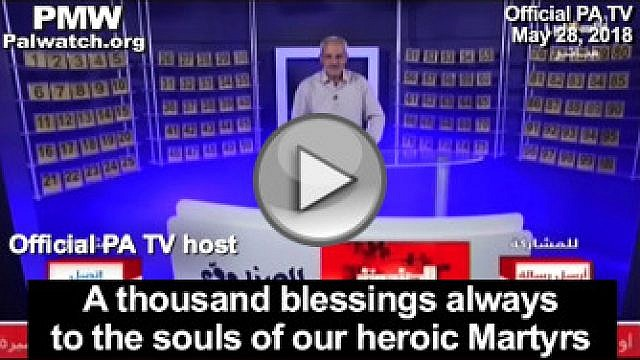 In a game show to entertain Palestinians during Ramadan, the Palestinian Authority TV host glorified the Palestinian ideal of Martyrdom-death. (Official PA TV, The Box, May 28, 2018-PMW)