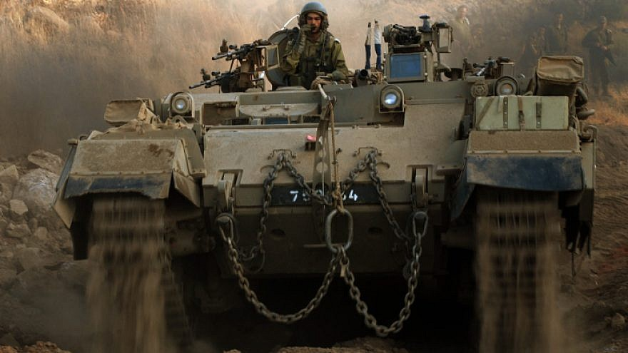 Israeli Combat Engineering Corps of the Central Command during a military training in the Golan Heights in northern Israel on Sept. 4, 2008. Photo by IDF Spokesperson/Flash90.
