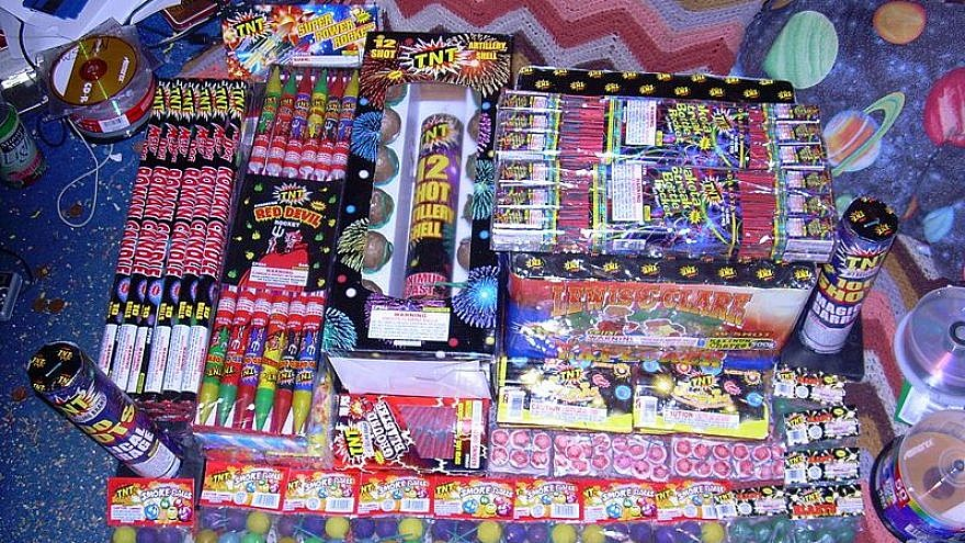 Collection of fireworks.