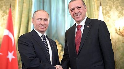 Russian President Vladimir Putin (left) and Turkish President Recep Tayyip Erdoğan. Source: Kremlin.