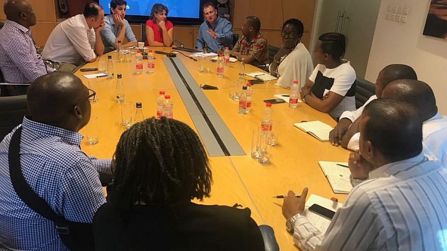 African business leaders meet with officials from the Israeli company Ashra as part of the American Jewish Committee's Project Interchange tour of the Jewish state. Credit: American Jewish Committee.