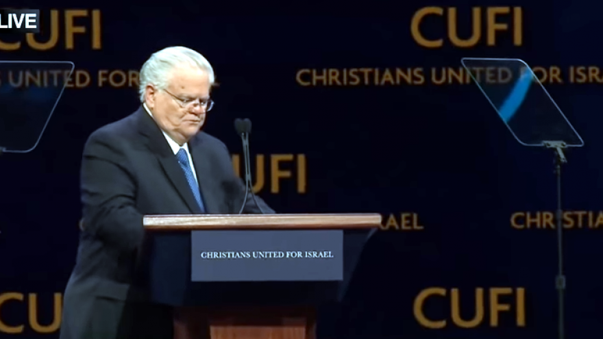 Pastor John Hagee at the 13th annual CUFI summit, held from July 23-24, 2018. Screenshot: YouTube.