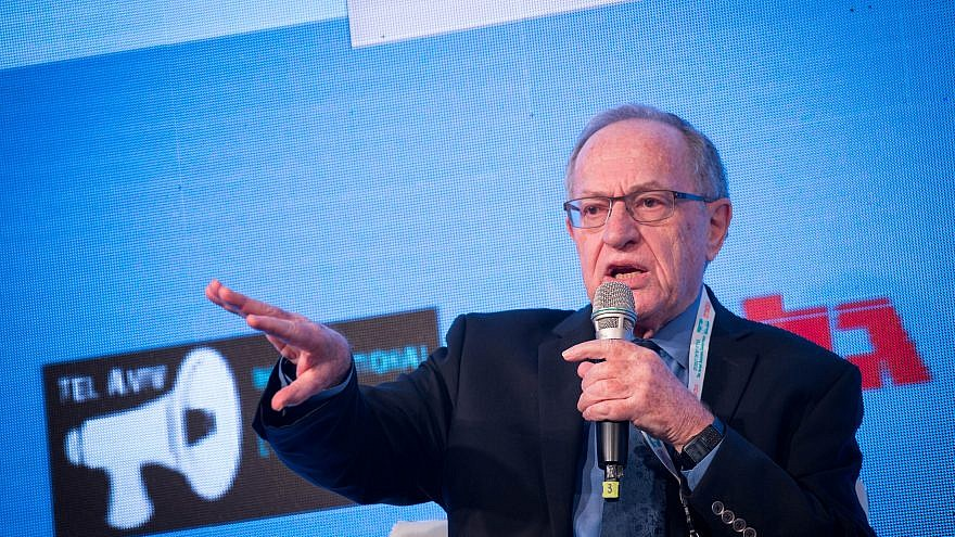 Professor Alan Dershowitz  speaks at a conference in Tel Aviv on Dec. 11, 2016. Photo by Miriam Alster/Flash90.