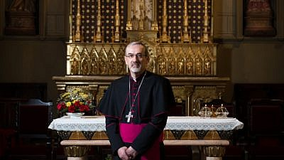 Portrait of Pierbattista Pizzaballa, Apostolic Administrator Latin Patriarchate of Jerusalem on Feb. 21, 2016. Photo by Sebi Berens/Flash90.