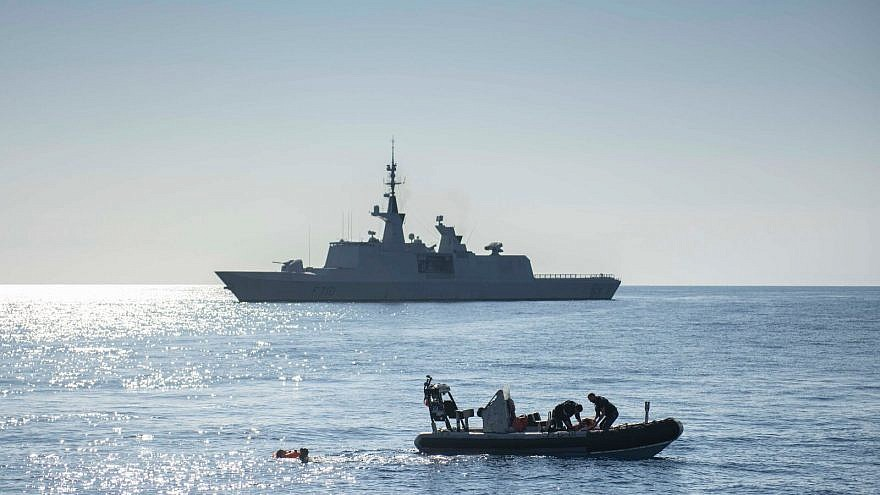 Two Israel Navy missile ships paid a visit to France earlier this month, where they held extensive drills with the French Navy, the first such event to occur in 59 years. July 2018. Credit: Courtesy of the IDF Spokesperson Unit.