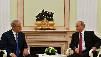 Israeli Prime Minister Benjamin Netanyahu and Russian President Vladimir Putin in Moscow on July 11, 2018. Credit: Kobi Gideon/GPO.