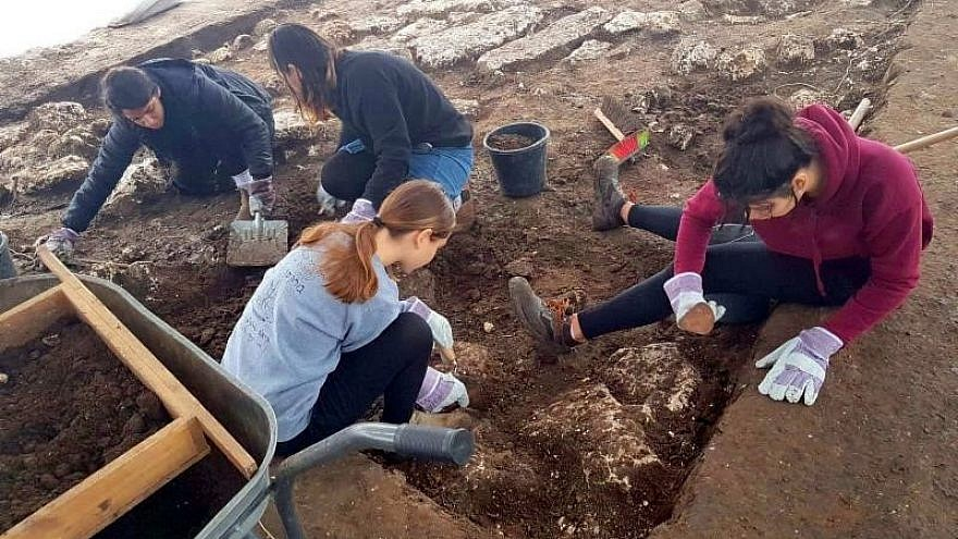 Volunteers from the United States will have the opportunity to participate in an archaeological dig in Israel as part of a pilot program that begins in November 2018. Credit: Israel Antiquities Authority.