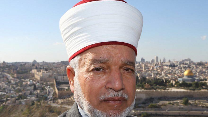 The mufti of Jerusalem, Muhammad Ahmad Hussein. Nov. 22, 2009. Photo by Nati Shohat/Flash90.