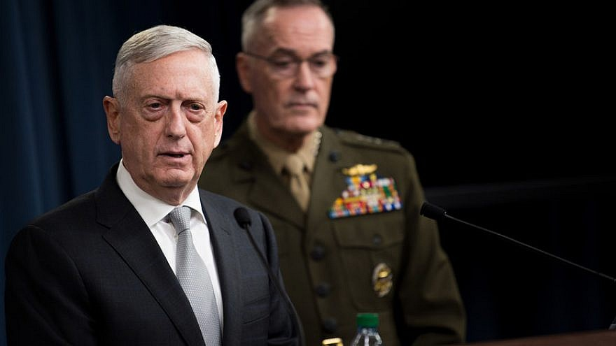 US defense chief puts Iran on notice | JNS org