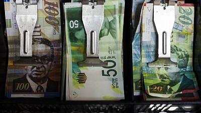 An Israeli cash register, Sept. 19, 2014. Photo by Noam Revkin Fenton/Flash90.