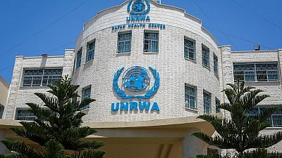 View of the United Nations Relief and Works Agency (UNRWA) building in Rafah in the southern Gaza Strip, July 26, 2018. Photo by Abed Rahim Khatib/Flash90.