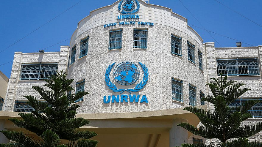 A view of the United Nations Relief and Works Agency (UNRWA) building in Rafah in the Gaza Strip on July 26, 2018. Photo by Abed Rahim Khatib/Flash90.