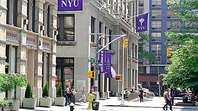 A view of New York University's campus in Greenwich Village. Credit: Wikimedia Commons.