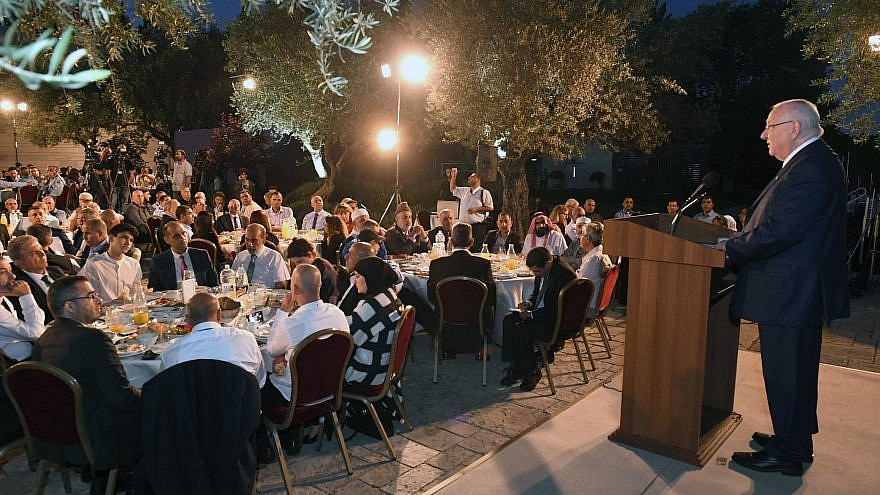 The president of Israel, Reuven Rivlin, hosted, as every year, a meal to break the fast of Ramadan (Iftar) for Muslim leaders and public figures in Israel, on June 12, 2017. Photo Credit: Mark Neyman/GPO.