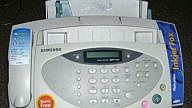 An old-school fax machine from the 1990s. Source: Wikpedia.