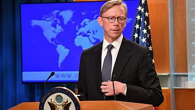 U.S. Special Representative for Iran Brian Hook at the announcement of the creation of the Iran Action Group in the Press Briefing Room at the Department of State, Aug. 16, 2018. Credit: U.S. Department of State/Flickr.