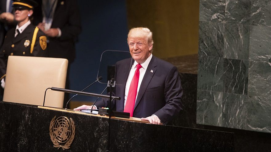 U.S. President Donald Trump addresses the 73rd session of the U.N. General Assembly on Sept. 25, 2018, at the United Nations Headquarters in New York. Credit: Official White House Photo by Joyce N. Boghosian.