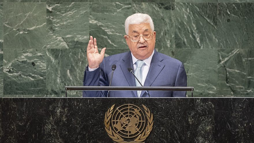 Palestinian Authority leader Mahmoud Abbas addresses the U.N. General Assembly on Sept. 27, 2018. Credit: U.N. Photo/Cia Pak.