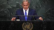 Israeli Prime Minister Benjamin Netanyahu addresses the 71st U.N. General Assembly debate at United Nations headquarters in New York City on Sept. 22, 2016. Photo by Kobi Gideon/GPO.