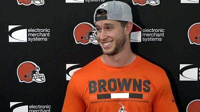 Greg Joseph. Credit: Screenshot/Facebook/Cleveland Browns.