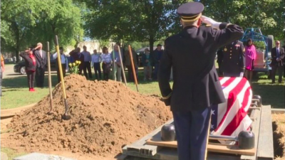 Remains of Morris Meshulam buried at the Etz Chaim cemetery in Marion, Indiana on on Sept. 22, 2018. Photo Credit: Screenshot.