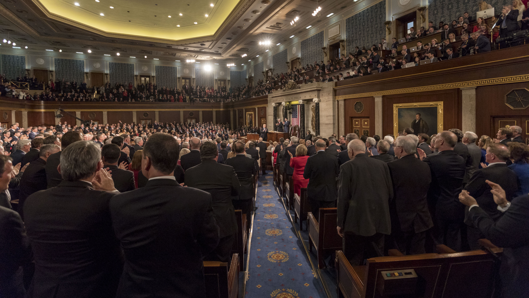The 2018 State of the Union Address. Official White House photo by D. Myles Cullen/Wikimedia Commons.