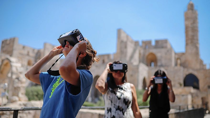 The Tower of David Museum in Jerusalem and the ToD Innovation Lab have teamed up with Australian company Lithodomos VR to produce the first virtual-reality mobile walking tour in Israel. Credit: Ricky Rachman.