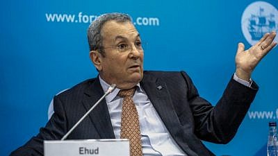 Former Israeli Prime Minister Ehud Barak at the Saint Petersburg Economic Forum in 2015. Credit: Ministry of Digital Development, Communications and Mass Media of the Russian Federation.