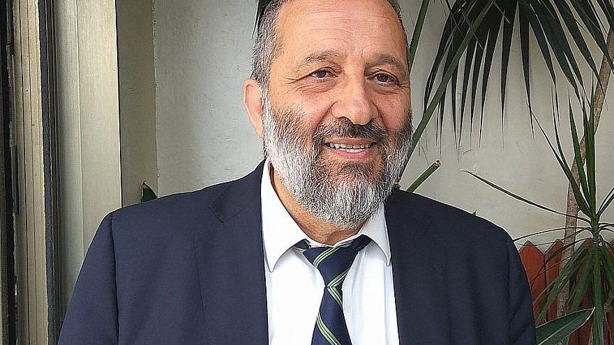 Israeli Interior Minister Aryeh Deri. Credit: Wikipedia.