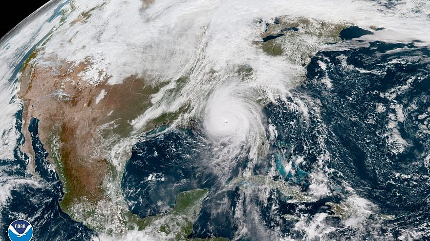 A view of the Gulf of Mexico and Hurricane Michael preparing to hit Florida. Credit: National Hurricane Center.