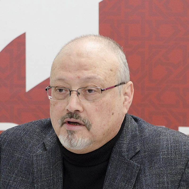 Jamal Khashoggi speaking in Washington, D.C. in March 2018. Credit: Wikimedia Commons.