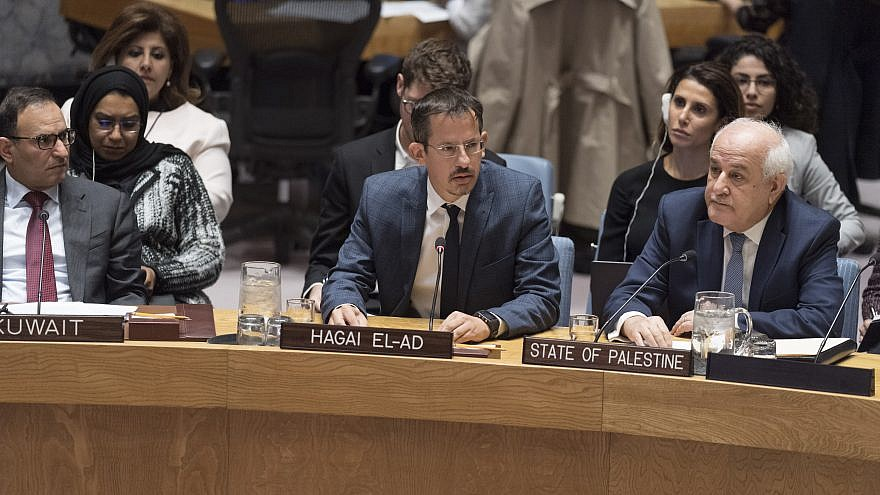 Hagai El-Ad, executive director of B'Tselem, addresses the U.N. Security Council on the situation in the Middle East, including the Palestinian question. Credit: U.N. Photo/Rick Bajornas.