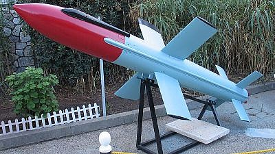 Israeli Gabriel anti-ship missile on display at the Clandestine Immigration and Naval Museum in Haifa, Israel. Credit: Bukvoed/Wikimedia Commons.