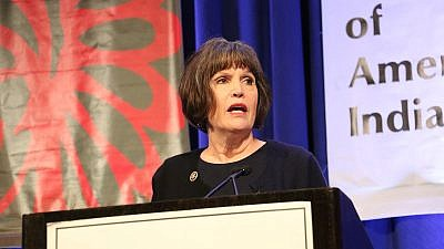 "U.S. Rep. Betty McCollum (D-Minn.) who in an October speech called Israel an ""apartheid"" state. Credit: Betty McCollum via Twitter."