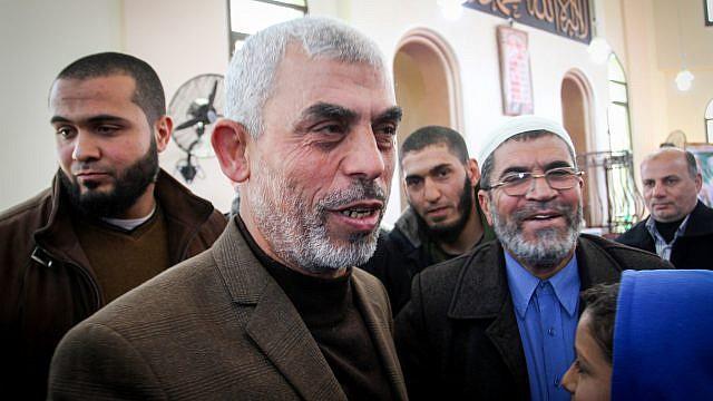 Yahya Sinwar, leader of Hamas in the Gaza Strip, Feb. 24, 2017. Photo by Abed Rahim Khatib/Flash90.