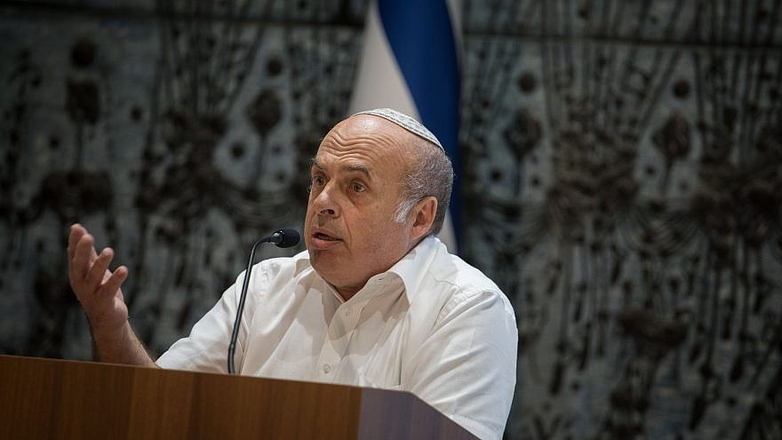 Natan Sharansky speaks during a Limud event ahead of the Jewish mourning day of Tu B'Av, at the Israeli president's residence in Jerusalem on July 31, 2017. Photo by Hadas Parush/Flash90.