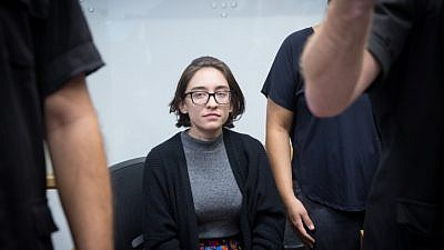 Lara Alqasem, a 22-year-old American graduate student, arrives to the courtroom at the Tel Aviv District court on Oct. 11, 2018. The American graduate student was denied entry at Israel's Ben-Gurion International Airport on Oct. 2 over allegations that she promotes a boycott against the Jewish state. Photo by Miriam Alster/Flash90.