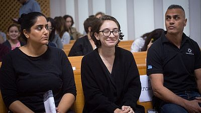 Lara Alqasem, a 22-year-old American graduate student, arrives to the courtroom at the Supreme Court in Jerusalem on October 17, 2018. Credit: Miriam Alster/Flash90