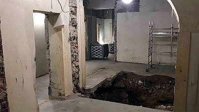 The Chabad center in Helsinki, Finland, was undergoing renovations when an excavation shovel struck what are believed to be wooden beams of a Russian fortress, according to state archaeologists. Credit: Chabad.org/News.